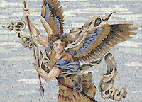 Custom Church and School mosaic Emblems - Michael the Archangel 5'x 3' 8 1/2""