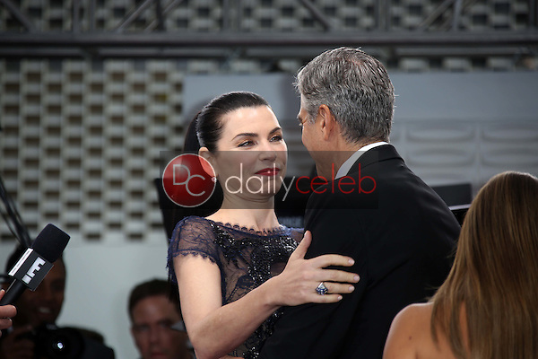 Julianna Margulies, George Clooney<br /> at the 70th Annual Golden Globe Awards Arrivals, Beverly Hilton Hotel, Beverly Hills, CA 01-13-13<br /> David Edwards/DailyCeleb.com 818-249-4998