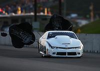Jun 3, 2016; Epping , NH, USA; NHRA pro stock driver Bo Butner during qualifying for the New England Nationals at New England Dragway. Mandatory Credit: Mark J. Rebilas-USA TODAY Sports