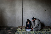 SYRIA: CHILDREN ATTEND SCHOOL AMID WAR (2013)