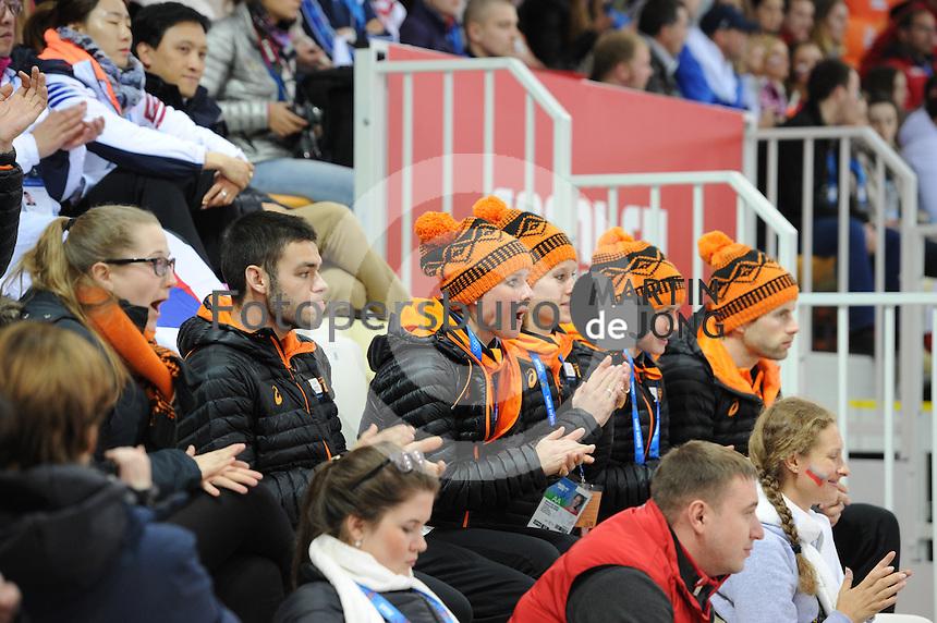 OLYMPICS: SOCHI: Adler Arena, 16-02-2014, Ladies' 1500m, Sjinkie Knegt, Sanne van Kerkhof, Rianne de Vries, Yara van Kerkhof, Daan Breeuwsma, ©photo Martin de Jong