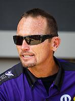 Sep 18, 2016; Concord, NC, USA; NHRA funny car driver Jack Beckman during the Carolina Nationals at zMax Dragway. Mandatory Credit: Mark J. Rebilas-USA TODAY Sports