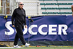 13 November 2011: Boston College head coach Ed Kelly. The University of North Carolina Tar Heels defeated the Boston College Eagles 3-1 at WakeMed Stadium in Cary, North Carolina in the Atlantic Coast Conference Men's Soccer Tournament championship game.