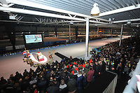 SCHAATSEN: HOORN: IJSBAAN DE WESTFRIES, 03-01-2014, Herdenkingsdienst marathonschaatser Sjoerd Huisman, ©foto Martin de Jong