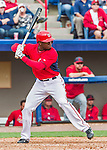 7 March 2015: Washington Nationals outfielder Derrick Robinson in Spring Training action against the St. Louis Cardinals at Space Coast Stadium in Viera, Florida. The Nationals rallied to defeat the Cardinals 6-5 in Grapefruit League play. Mandatory Credit: Ed Wolfstein Photo *** RAW (NEF) Image File Available ***