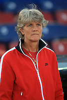 Head Coach Pia Sundhage. USWNT vs Costa Rica in the 2010 CONCACAF Women's World Cup Qualifying tournament held at Estadio Quintana Roo in Cancun, Mexico on November 8th, 2010.