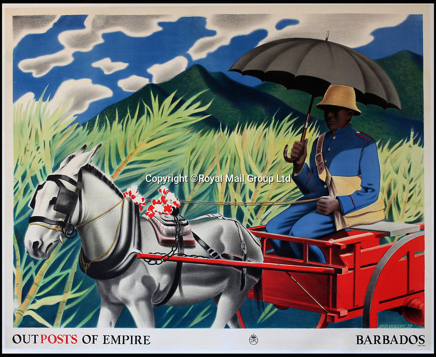 BNPS.co.uk (01202 558833)<br /> Pic: RoyalMailGroup/BNPS<br /> <br /> John Vickery (1906-1983) Outposts of Empire, Barbados, GPO poster.<br /> <br /> A one-of-a-kind sale of rare vintage posters could net the Post Office &pound;40,000 to put towards the building of a new museum dedicated to the service.<br /> <br /> In a bid to raise funds for the new British Postal Museum, curators sifted through the Royal Mail archives to find duplicates of advertising posters dating back to the 1930s that they could sell at auction.<br /> <br /> The resulting collection of more than 150 original posters are now going under the hammer at Onslows Auctions in Blandford, Dorset, in a sale the likes of which has never been held before.<br /> <br /> The proceeds will go towards the building of the new museum in Camden, London, which will feature part of the old Post Office Underground Railway - the Mail Rail - as a heritage attraction.