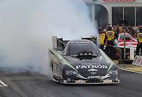 May 10, 2013; Commerce, GA, USA: NHRA funny car driver Alexis DeJoria during qualifying for the Southern Nationals at Atlanta Dragway. Mandatory Credit: Mark J. Rebilas-