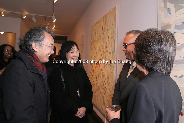 Arlan Huang, Mostly Violet at the Walter  Randel Gallery in New York on 10/30/08. Photo by Lia Chang