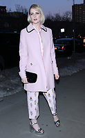 NEW YORK, NY - MARCH 22: Lucy Boynton arrives to the screening of The Blackcoat's Daughter  at the Landmark Sunshine Theater in New York City on March 22, 2017. Credit: RW/MediaPunch