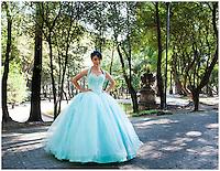 Quinceañera, sweet 15 in Chapultepec Park, Mexico City