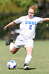 30 September 2007: Duke's Rebecca Allen. The Duke University Blue Devils defeated the Virginia Tech University Hokies 1-0 in sudden death overtime at Koskinen Stadium in Durham, North Carolina in an Atlantic Coast Conference NCAA Division I Women's Soccer game.