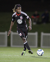 Joseph Ngwenya(11) of D.C. United  during a play-in game for the US Open Cup tournament against the Philadelphia Union at Maryland Sportsplex, in Boyds, Maryland on April 6 2011. D.C. United won 3-2 after overtime penalty kicks.