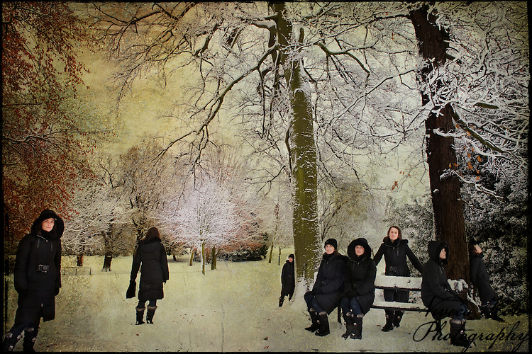 Multiple self portrait in Crystal Palace Park