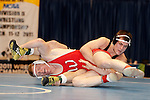 12 MAR 2011: Donovan McMahill of Western State wrestles Mitch Knapp during the Division II Wrestling Championship held at the Health and Sports Center at the University of Nebraska-Kearney in Kearney, NE.  McMahill defeated Knapp 9-3 for the national 197 pound title. Scott Anderson/NCAA Photos