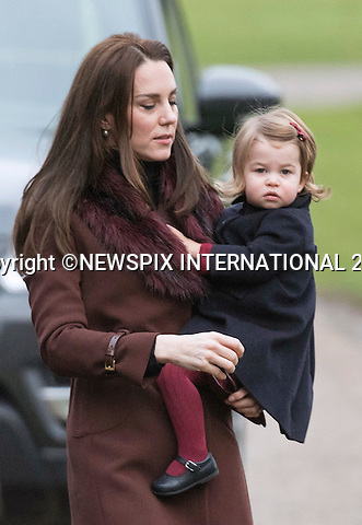 25.12.2016; Englefield, UK: PRINCE GEORGE AND PRINCESS CHARLOTTE - 1ST XMAS SERVICE<br />