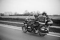 the timekeapers tell us the breakaways lead<br /> <br /> Gent-Wevelgem 2014