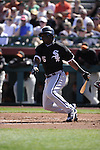 SCOTTSDALE, AZ - MARCH 09:  Lastings Milledge #5 of the Chicago White Sox bats against the San Francisco Giants on March 09, 2011 at Scottsdale Stadium in Scottsdale, Arizona. The Giants defeated the White Sox 4-2.  (Photo by Ron Vesely)