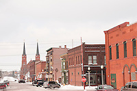Downtown street scenes in Calumet Michigan.