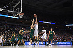 MILWAUKEE, WI - MARCH 16: Purdue Boilermakers center Isaac Haas (44) shoots over a Vermont Catamounts player during the second half of the 2017 NCAA Men's Basketball Tournament held at BMO Harris Bradley Center on March 16, 2017 in Milwaukee, Wisconsin. (Photo by Jamie Schwaberow/NCAA Photos via Getty Images)