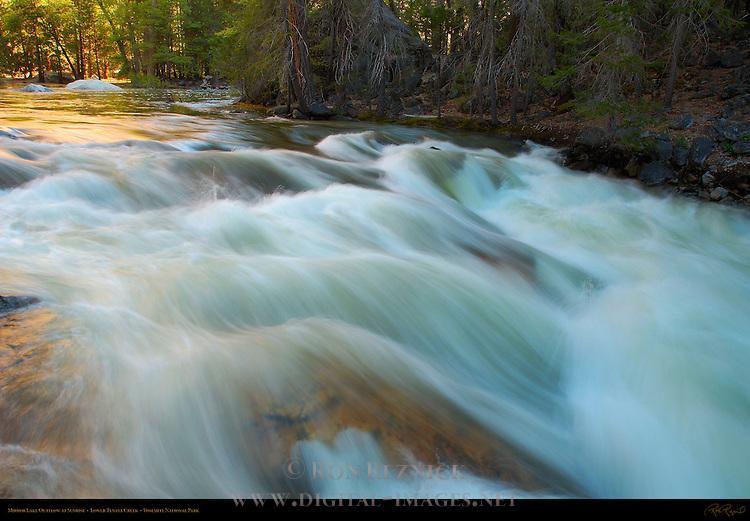Lower Tenaya Creek during Spring Flood, Outlet from Lower Mirror Lake at Sunrise, Yosemite National Park