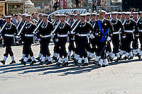 Roma 25 Aprile 2014<br /> Cerimonia  per la Festa della Liberazione  dal nazi fascismo all 'Altare della Patria,la Marina Militare<br /> Rome April 25, 2014 <br /> Ceremony for the Liberation Day from Nazi fascism at Altare della Patria (Altar of the Fatherland) in Rome. The navy  military