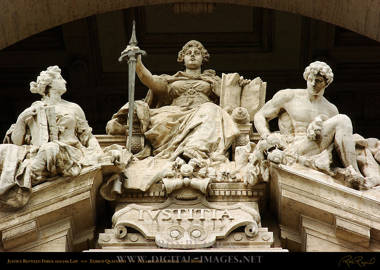Justice Between Force and the Law Enrico Quattrini Palazzo di Giustizia Palace of Justice Rome