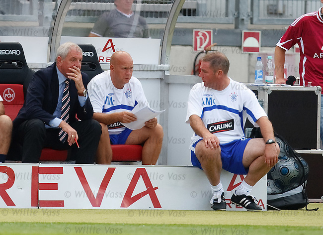Walter Smith, Kenny McDowall and Ally McCoist look on
