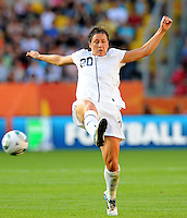 Abby Wambach of team USA during the FIFA Women's World Cup at the FIFA Stadium in Dresden, Germany on June 28th, 2011.