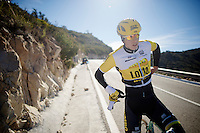 Sep Vanmarcke (BEL/LottoJumbo)<br /> <br /> Team Lotto Jumbo winter training camp<br /> Moj&aacute;car, Spain, January 2015