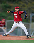 30 April 2008: University of Massachusetts Minutemen pitcher Jared Freni, a Sophomore from Malden, MA, in action against the University of Vermont Catamounts at Historic Centennial Field in Burlington, Vermont. The Catamounts recorded a season-high 19 hits as they defeated the Minutemen 17-4 in their last NCAA non-conference game of the year...Mandatory Photo Credit: Ed Wolfstein Photo