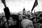 Moscow, Russia.1998.A major communist demonstration to protest the Russian governments' handling of the failed transition takes place in Red Square nearly two months into the economic crisis. Fewer people then expected turned out showing Russian apathy..