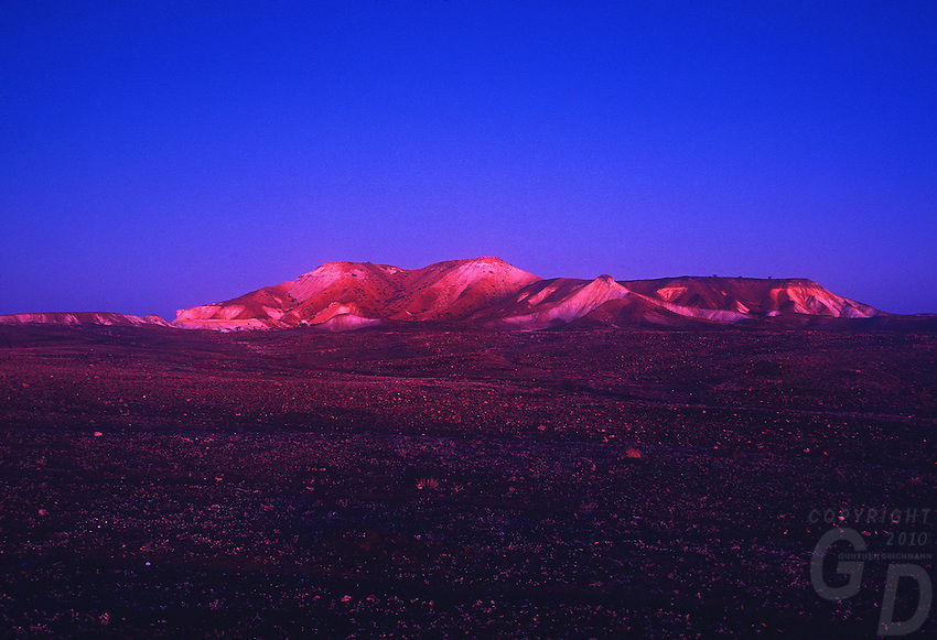 Twilight at the Badlands in Central South Australia, Outback of Australia