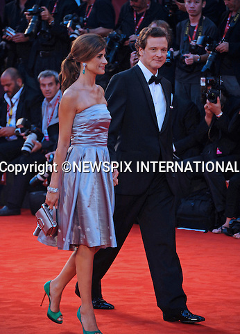 "COLIN FIRTH AND LIVIA GIUGGIOLI.at the 68th Venice Film Festival,Venice, Italy_05/09/2011.Mandatory Credit Photo: ©Massimo/NEWSPIX INTERNATIONAL..**ALL FEES PAYABLE TO: ""NEWSPIX INTERNATIONAL""**..IMMEDIATE CONFIRMATION OF USAGE REQUIRED:.Newspix International, 31 Chinnery Hill, Bishop's Stortford, ENGLAND CM23 3PS.Tel:+441279 324672  ; Fax: +441279656877.Mobile:  07775681153.e-mail: info@newspixinternational.co.uk"