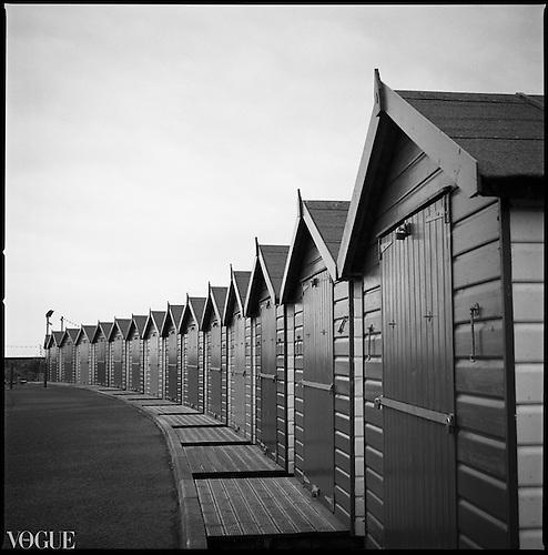 Beach Huts I, Dawlish Warren, Devon by Paul Cooklin