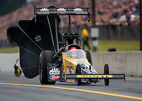 Oct 2, 2016; Mohnton, PA, USA; NHRA top fuel driver Doug Kalitta during the Dodge Nationals at Maple Grove Raceway. Mandatory Credit: Mark J. Rebilas-USA TODAY Sports