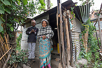 Nepal, Bungamati village that was basically destroyed by earthquake damage. People living in temporay shelters.