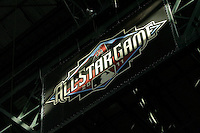 27 June 2011:  MLB All-Star banner hanging from the rafters of the retractable roof during a Major League Baseball game MLB Cleveland Indians defeated the Arizona Diamondbacks 5-4 inside Chase Field in Phoenix, AZ.  **Editorial Use Only**
