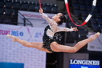 September 09, 2015 - Stuttgart, Germany - SERENA LU of USA performs in training before AA qualifications at 2015 World Championships.