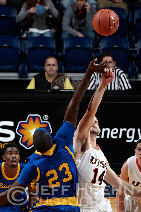 SAN ANTONIO, TX - DECEMBER 28, 2011: The University of California Riverside Highlanders vs. The University of Texas at San Antonio Roadrunners Men's Basketball at the UTSA Convocation Center. (Photo by Jeff Huehn)