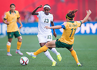 Winnipeg, Canada- June 12, 2015:  Australia defeated Nigeria 2-0 at their second group game during the FIFA Women's World Cup.