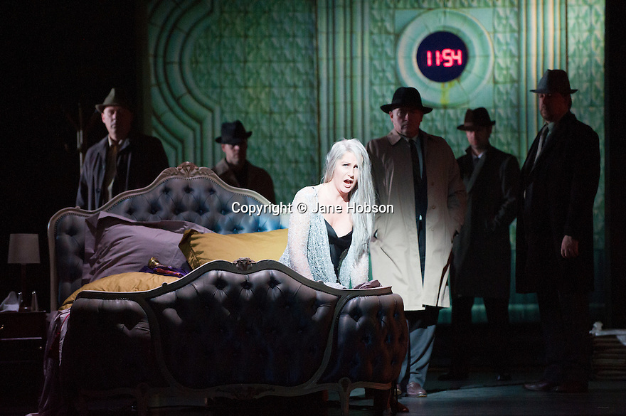 Opera North presents THE MAKROPULOS CASE, by Janacek, at the Festival Theatre, as part of the Edinburgh International Festival. Picture shows: Ylva Kihlberg (as Emilia Marty).