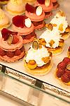 Pastries at Laduree, a famous patisserie, Rue de Royale, Paris, France, Europe