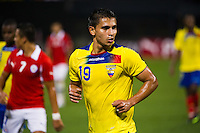 Luis Fernando Saritama (19) of Ecuador. Ecuador defeated Chile 3-0 during an international friendly at Citi Field in Flushing, NY, on August 15, 2012.