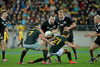 Brodie Retallick in action during the Rugby Championship - All Blacks v Springboks at Westpac Stadium, Wellington, New Zealand on Saturday 13 September 2014.<br /> Photo by Masanori Udagawa.<br /> www.photowellington.photoshelter.com
