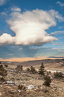Looking onto the Bighorn Basin from the Shoshone National Forest Wyoming
