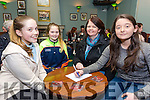 Enjoying the Tenacity School of Performing Arts Table Quiz fundraiser at Na Gaeil Club on Sunday were Emma Feely, Katelyn feely, Mags Feely and Clodagh Begley