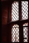 A tudor window with latice lead work