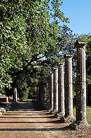 Palaestra monument (3rd cent. B.C.) in Olympia, Greece