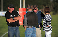 Fans chat after the Wairarapa Bush club rugby match between Greytown and Marist at Greytown Rugby Club in Greytown, New Zealand on Saturday, 22 April 2017. Photo: Dave Lintott / lintottphoto.co.nz